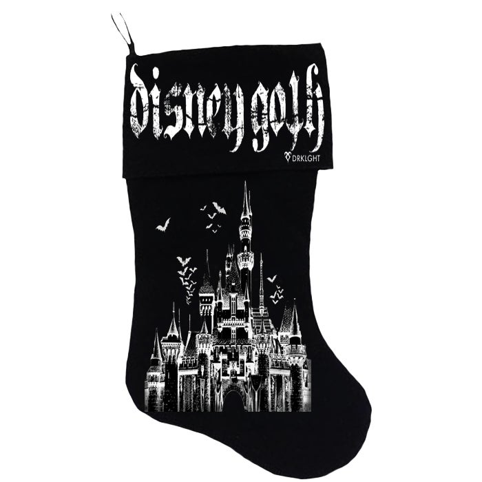 Image of Disney Goth Christmas Stocking