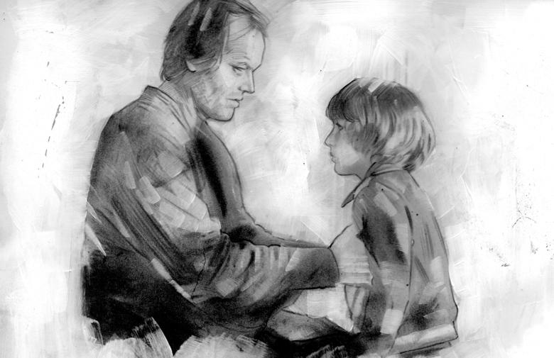 Image of ORIGINAL ART SHINING POSTER - JACK AND DANNY