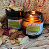 Indian Summer Candle in an amber glass jar