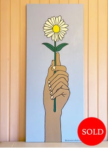 Image of A gift of a daisy canvas painting