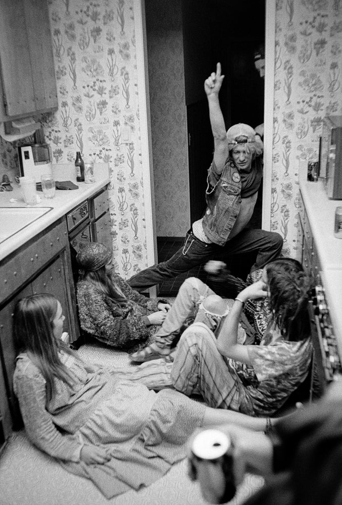 Kurtis performing at hippie party  1991 by Tobin Yelland