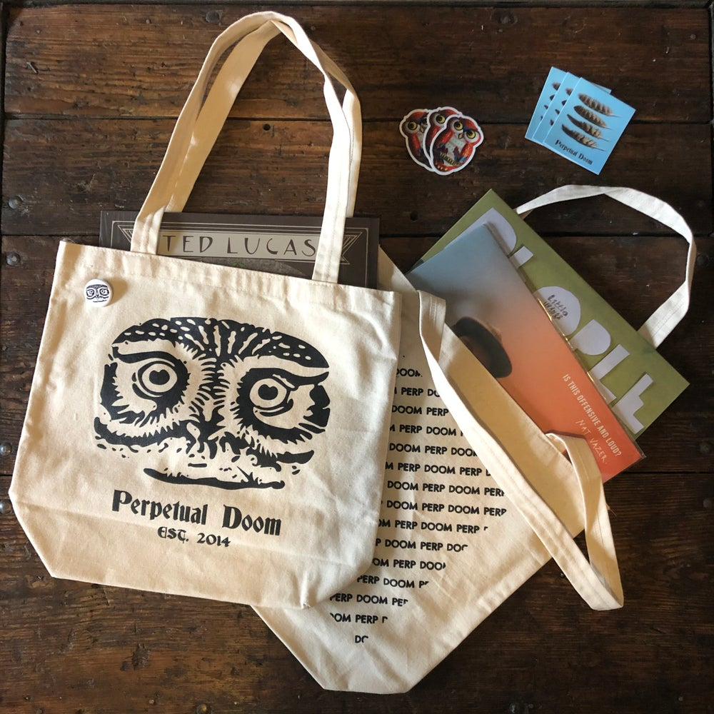 Perp Doom Natural Cotton Canvas Tote