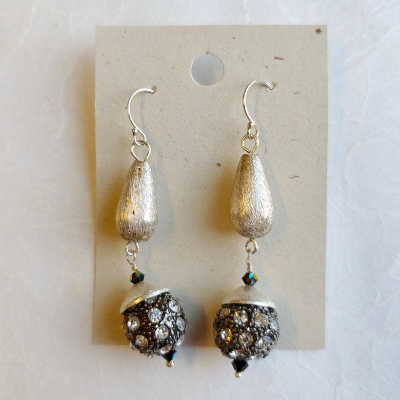 Image of Rhinestone Ball earrings