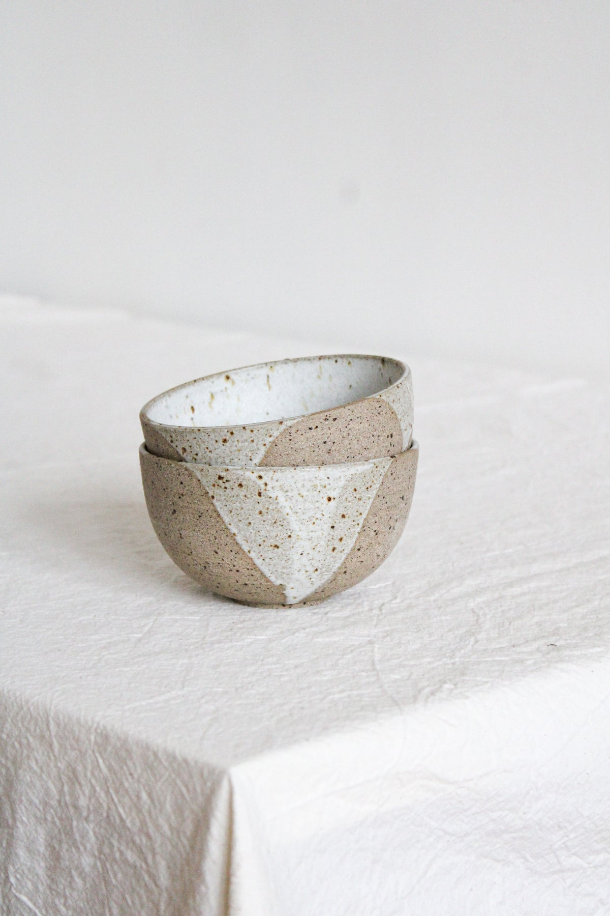 Image of snack bowl - white glaze drips