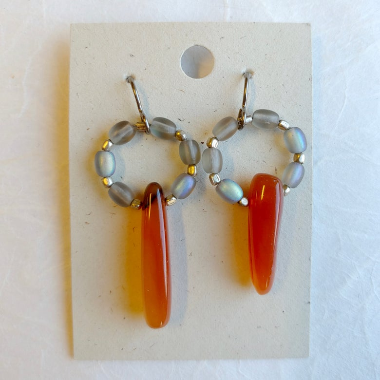 Image of Carnelian Point earrings