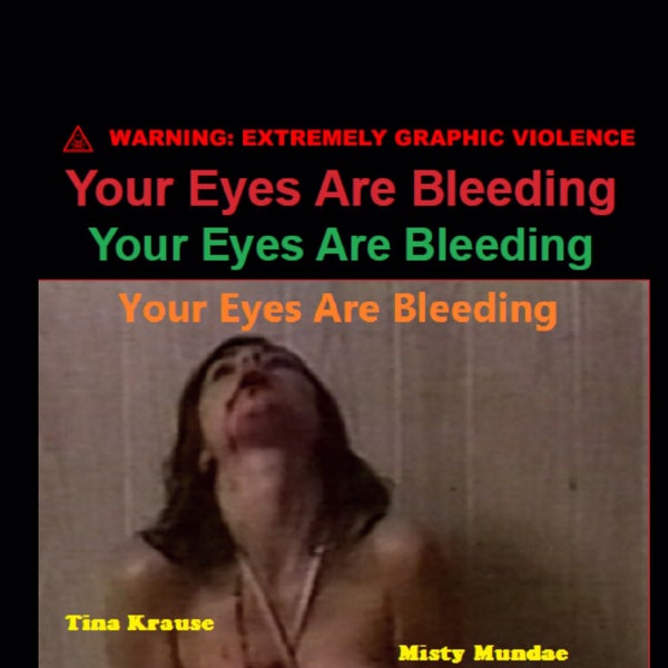 Image of YOUR EYES ARE BLEEDING VHS Lost SOV Anthology William Hellfire Pete Jacelone Misty Mundae