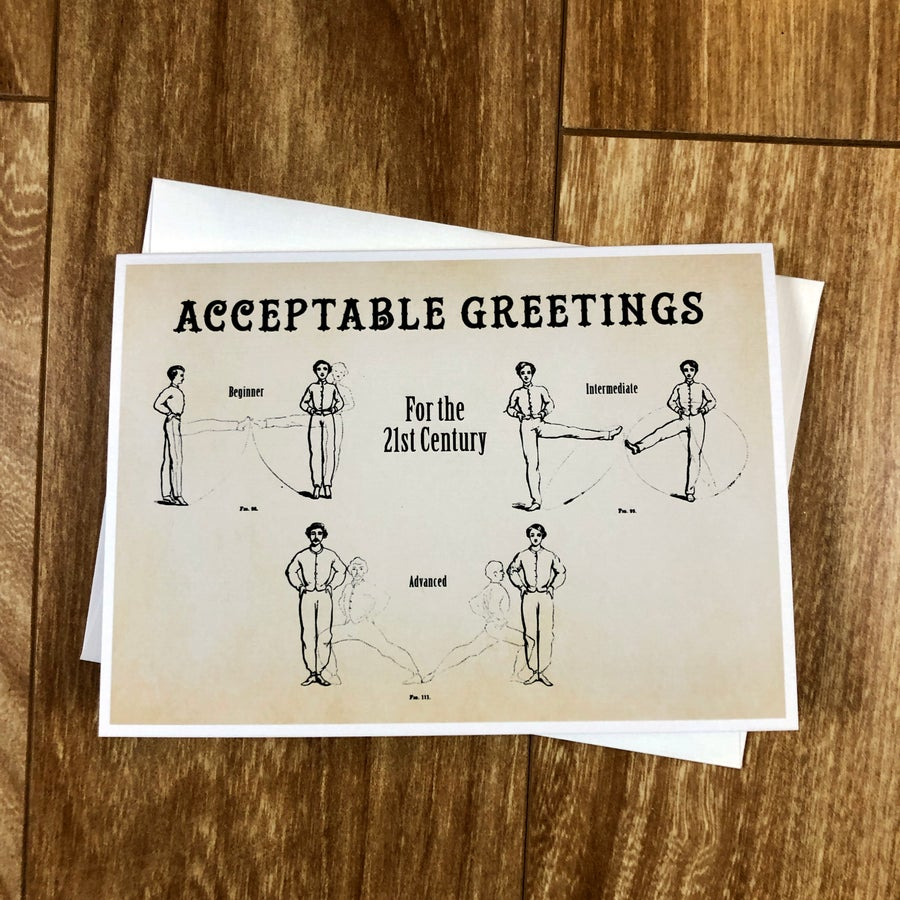 Image of Acceptable Greetings - Greeting Card - By David Holub