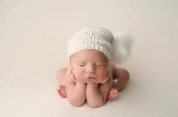 Image of Slouchy Bonnet with Pom + Wrap Option
