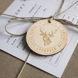 Santa Claus / North Star Gift Tag - Alfie's Studio