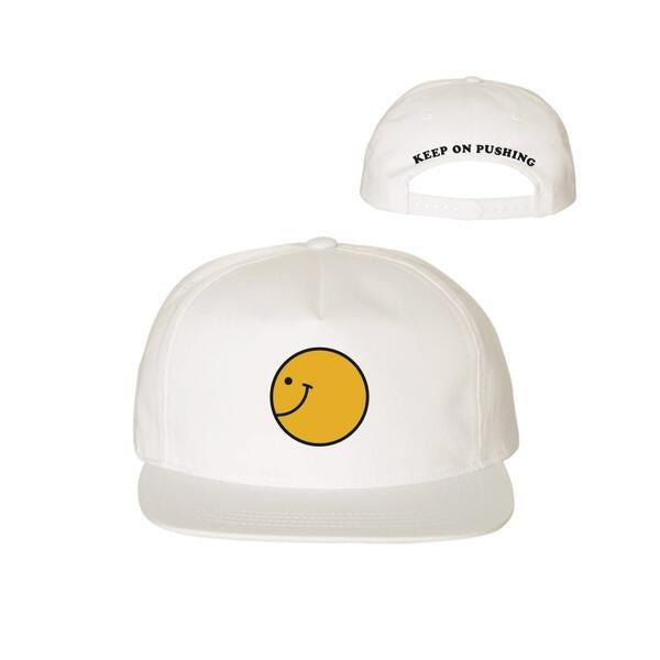 Image of Keep On Pushing White Unstructured Cap