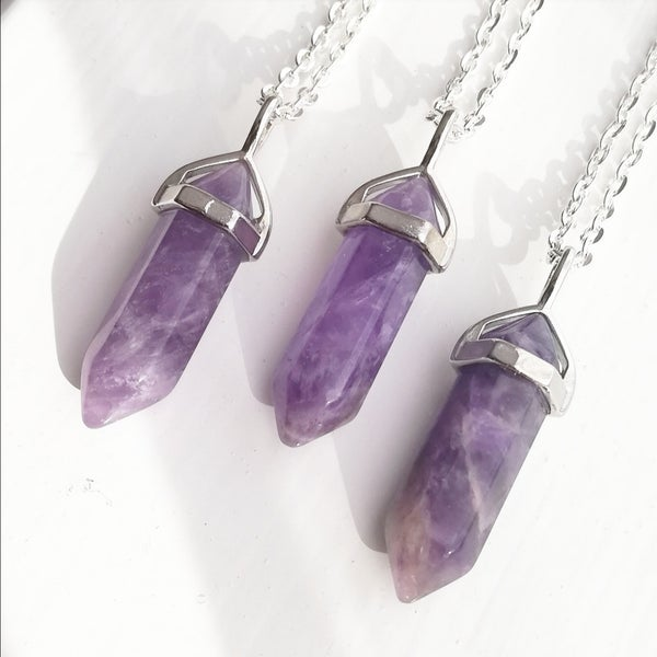 Image of Amethyst Crystal Necklace