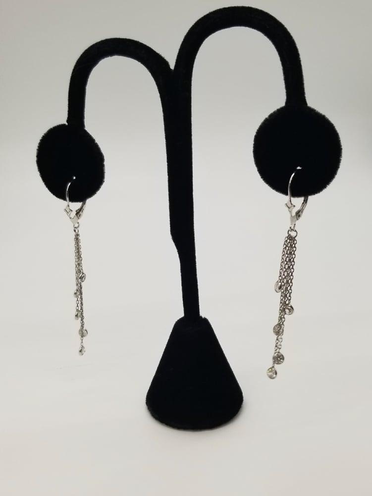 Image of White Gold Dangled Earrings
