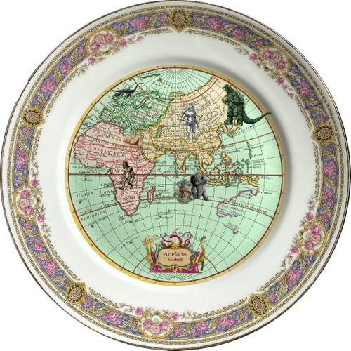 Image of DUO Mysterious World - 2 vintage porcelain plates - #0736