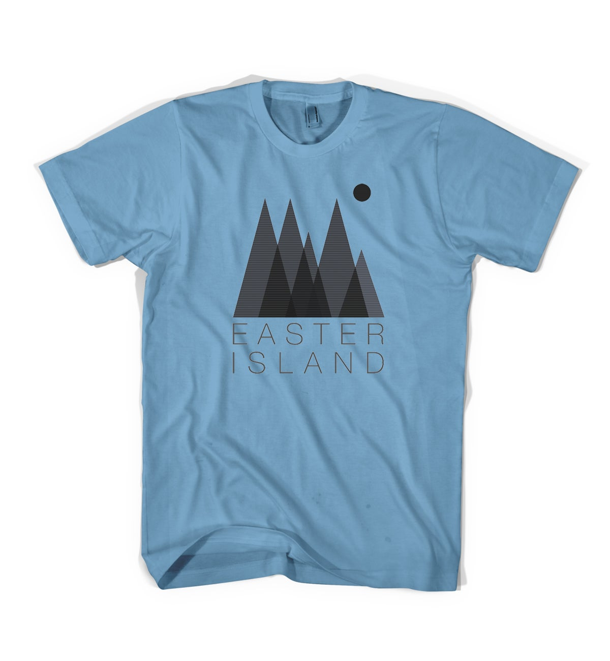 "Image of Easter Island ""Forest"" Tee - Steel Blue"