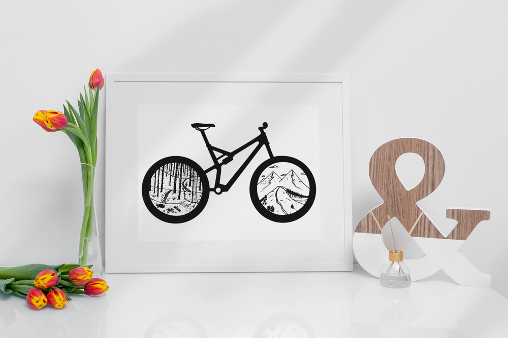 Image of Mountain Bike Print