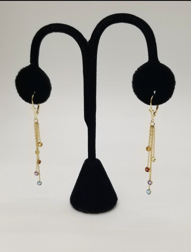 Image of Multi Color Dangled Earrings
