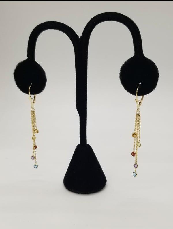 Image of Multi Color Dangled Earrings