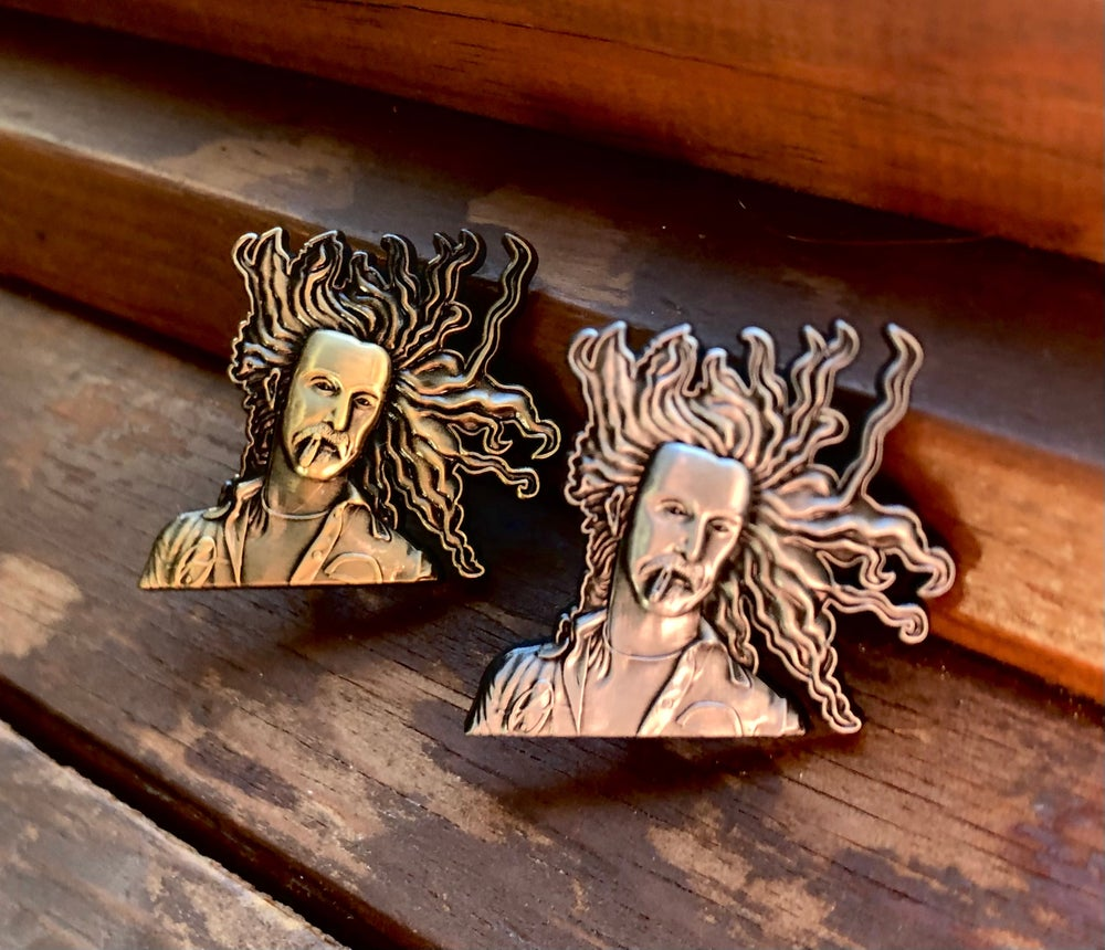 Image of Frank Zappa 3D pins