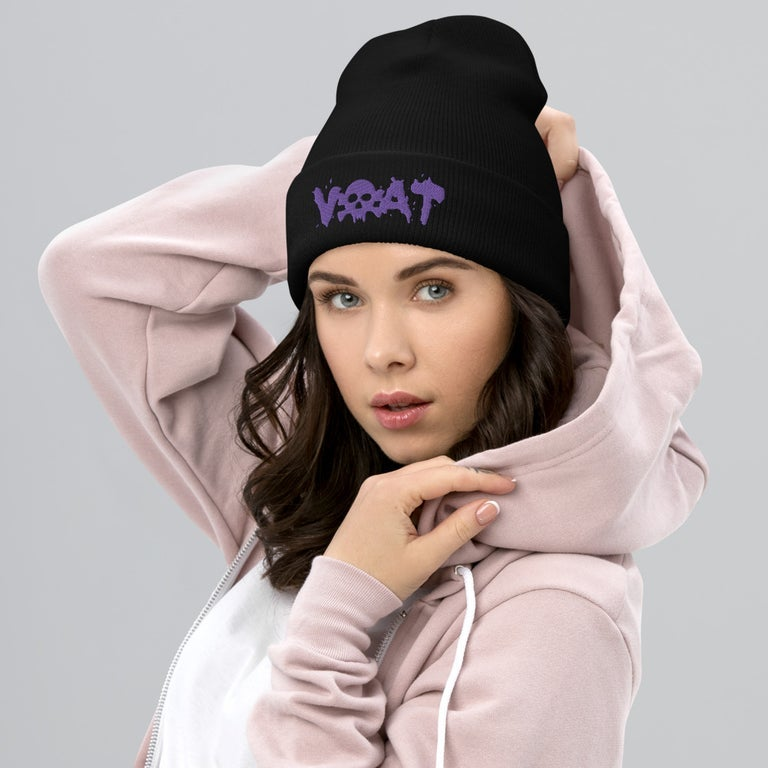 Image of (Click for color options) VOAT SKULLTEXT BEANIE