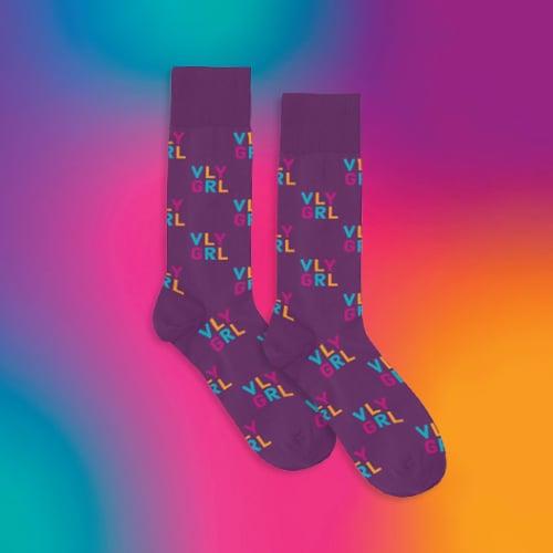 Image of VLY GRL Logo Socks