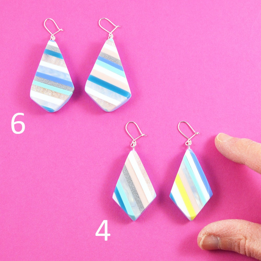 Image of Stripey Nugget Earrings 4 and 6