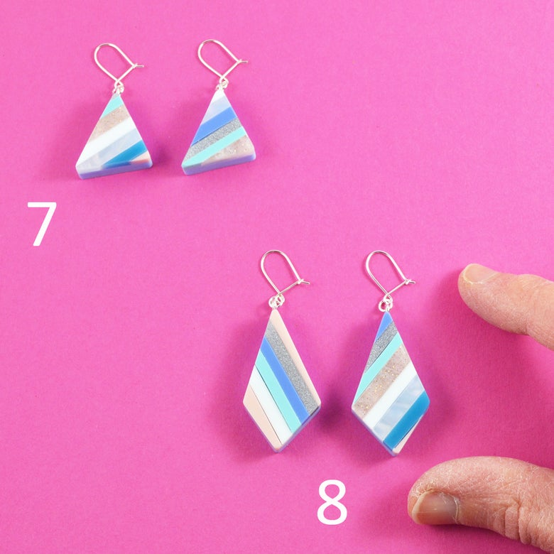 Image of Stripey Nugget Earrings 7 and 8