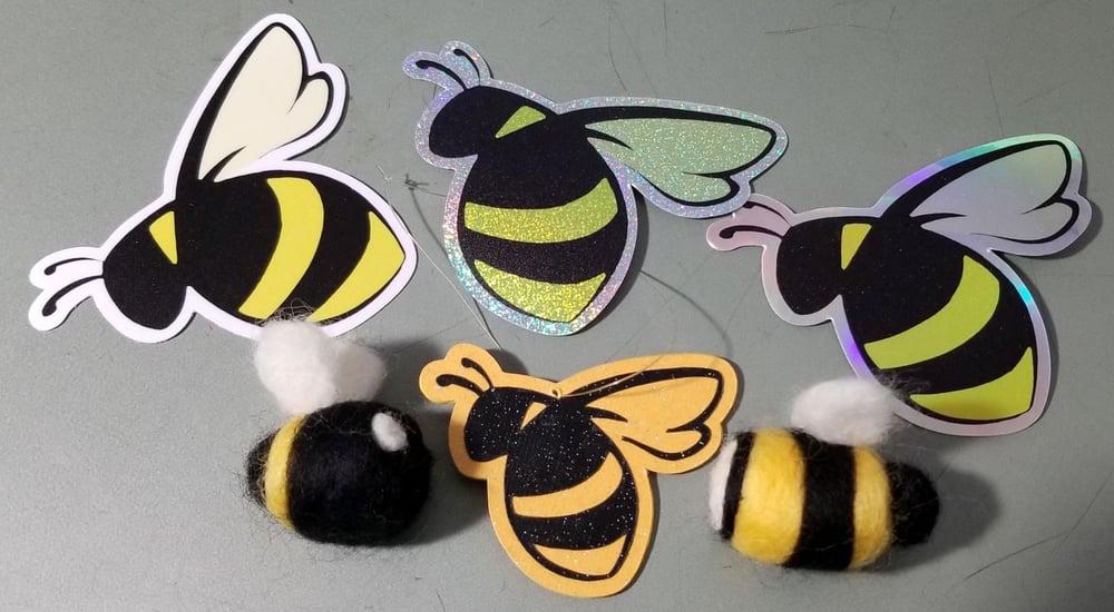 Glitter Bumblebee sticker