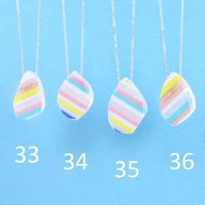 Image of Stripey Nugget Necklaces 33 to 36