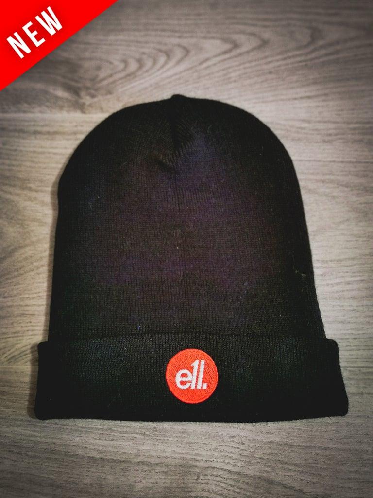 Image of Black beanie hat