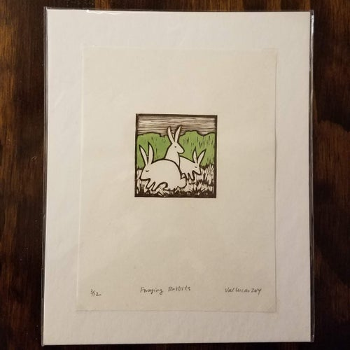 Image of FLASH SALE Foraging Rabbits Print