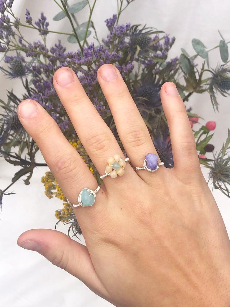 Image of Beaded Flower Ring