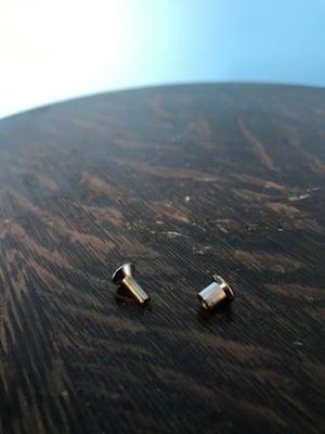 "Image of 1/2"" Hardware Set Pack of 100 Screws & Barrel Nuts for Metal Tape Reels"