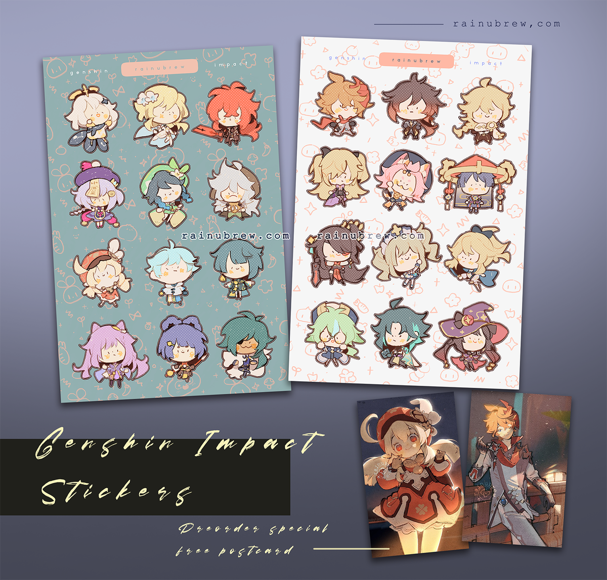 """Image of [PREORDER] Genshin Impact - Grey (NEW), Teal, and White Collections 