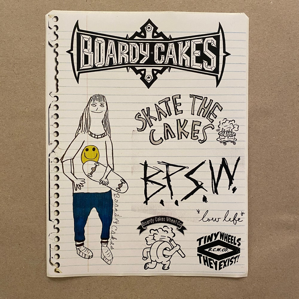 """Image of Boardy Cakes """"U-Cut"""" Notebook Sticker Sheet"""