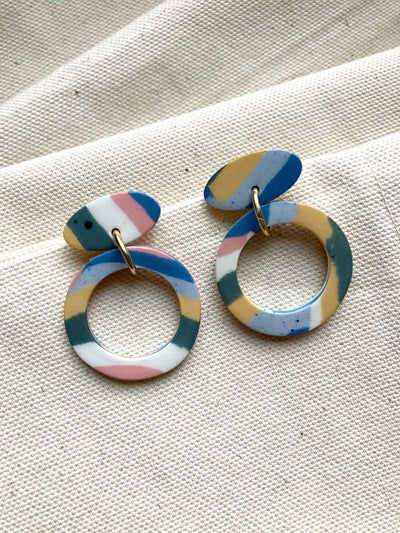 Image of Swirl - Hoop Drop earrings - Medium