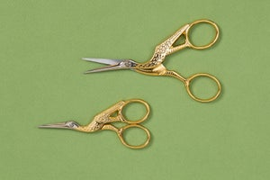 Image of FORBICI DA CUCITO A CICOGNA ALTA QUALITA' / HIGH QUALITY STORK SCISSORS