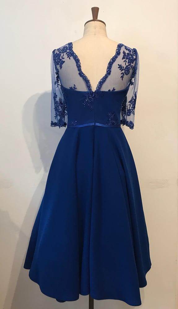 Image of Full circle beaded sweetheart dress