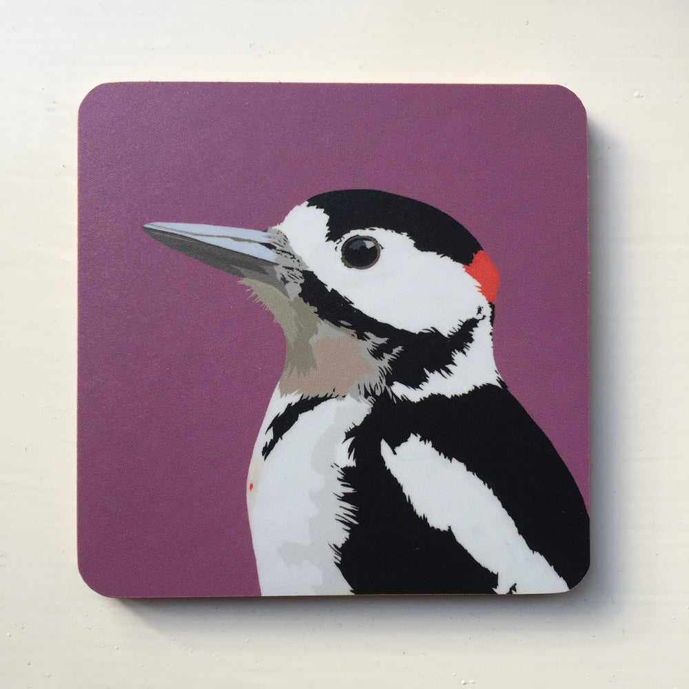 Image of Great Spotted Woodpecker Coaster