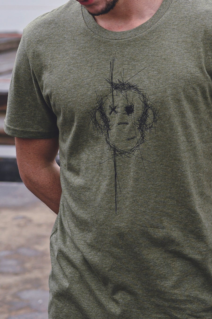 Image of Monkey Climber Surface shirt I Mid Heather Khaki