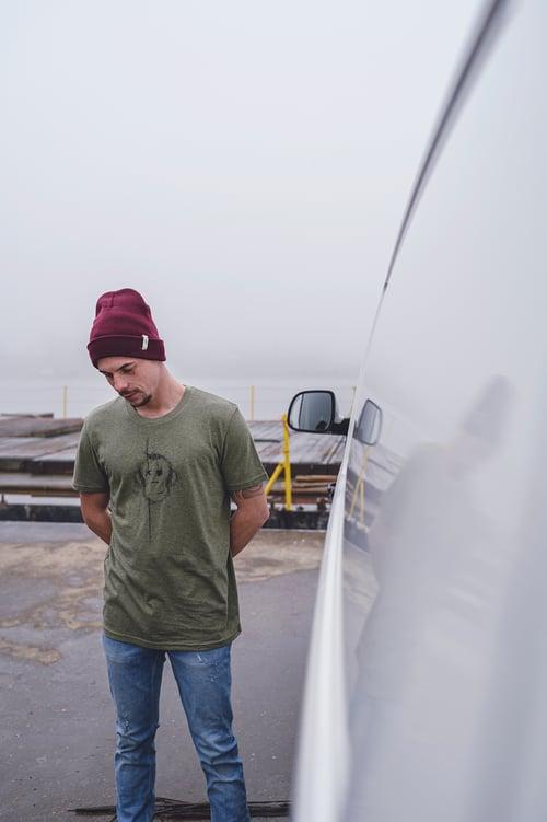 Image of Monkey Climber Surface shirt I Mid Heather Khaki