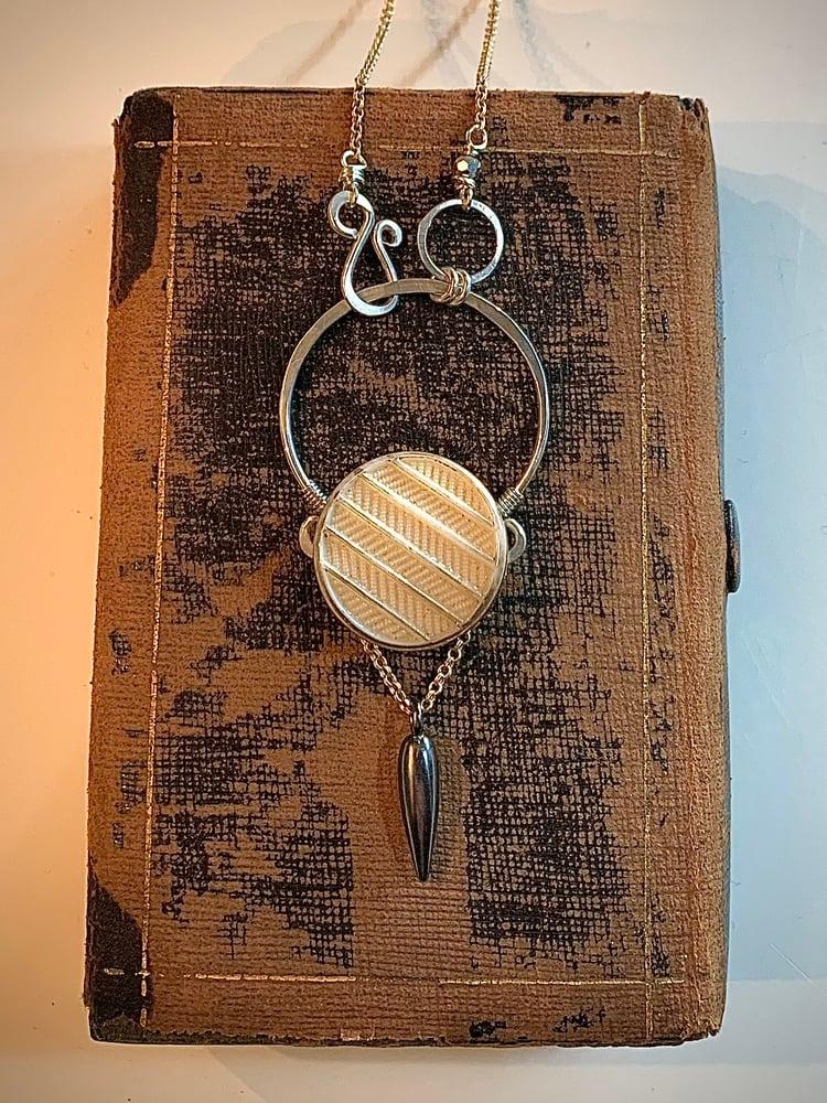 "Image of ""Herringbone"" Arc Necklace"