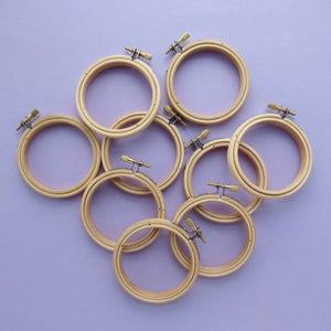 Image of Lots of Imperfect Mini Embroidery Hoops (3 inches)