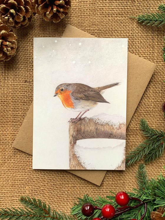 Image of 'Winter Robin' Greetings Card