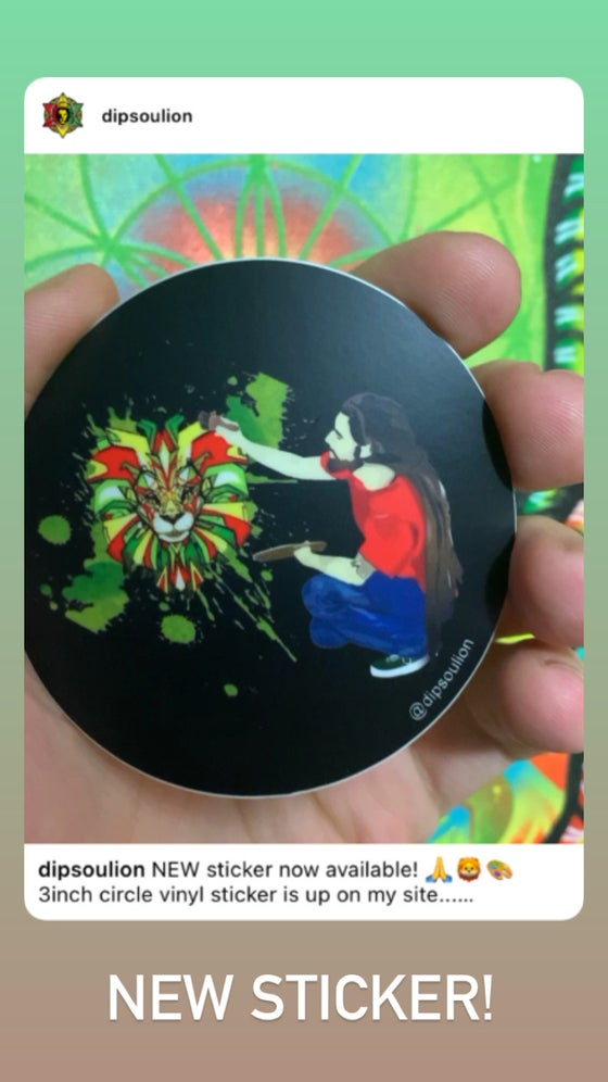 Image of DiP artist sticker