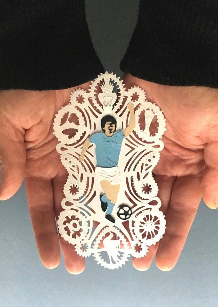 "Image of Santino Maradona ""El pibe de oro"""