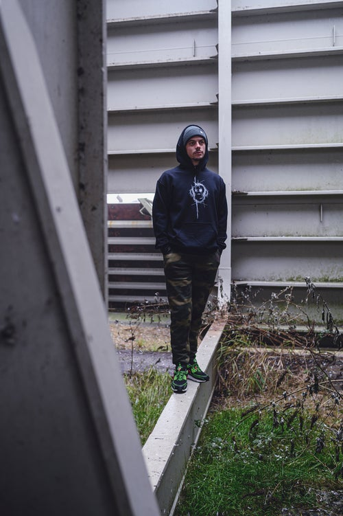 Image of Monkey Climber Surface hoodie I Black