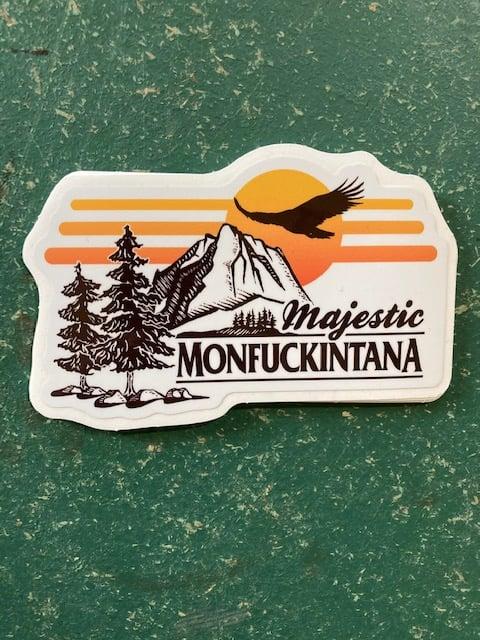 Image of New! Majestic Monfuckintana Sticker (white)