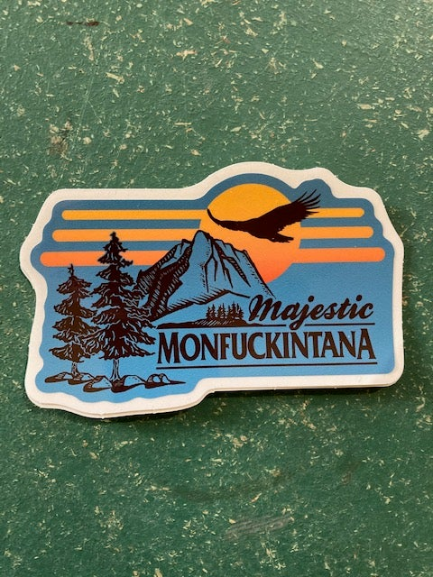 Image of New! Majestic Monfuckintana Sticker (teal)