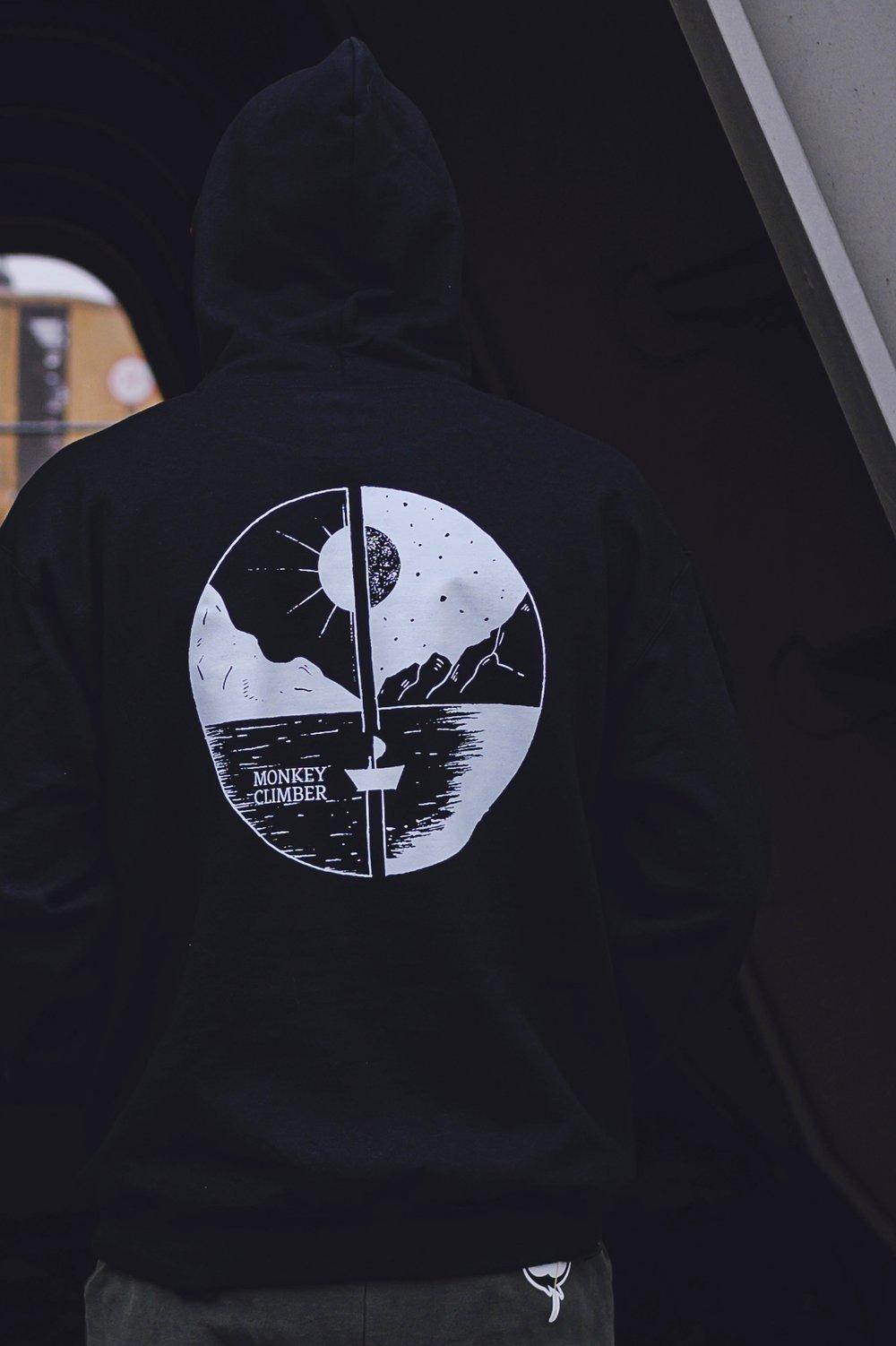 Image of Monkey Climber Day & Night hoodie I Black