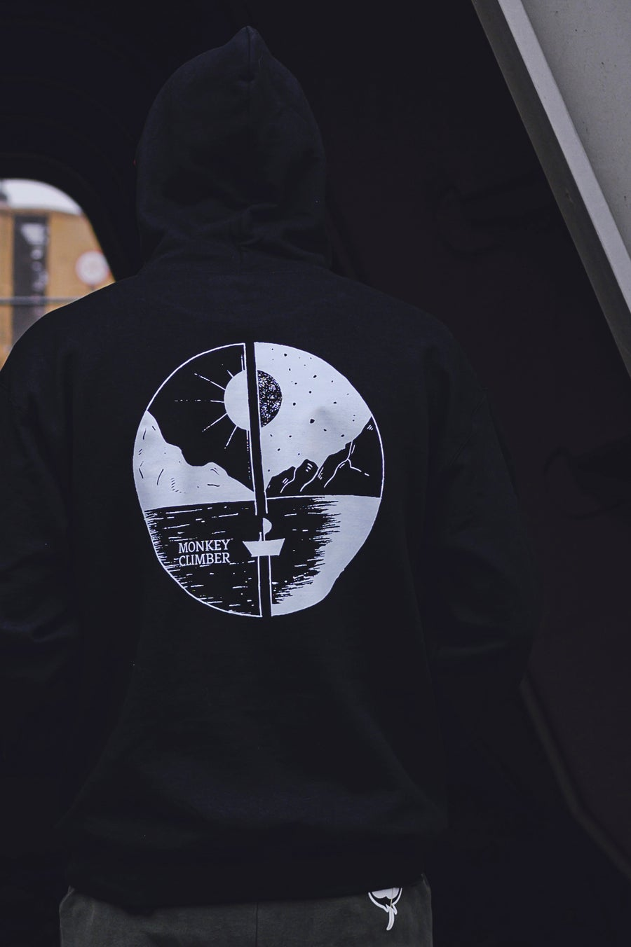 Image of Monkey Climber Day & Night hoodie I Black